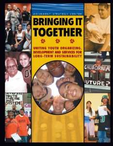 This is the cover of Bringing It Together by the Movement Strategy Center