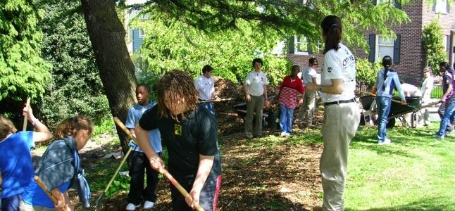 Freechild Project youth making a trail