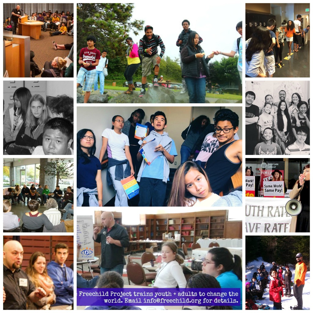 The Freechild Project trains youth and adults! Learn more by calling (360) 489-9680