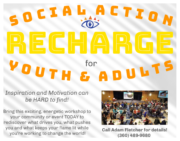 Social Action Recharge Workshop for Youth & Adults by Freechild Institute for Youth Engagement
