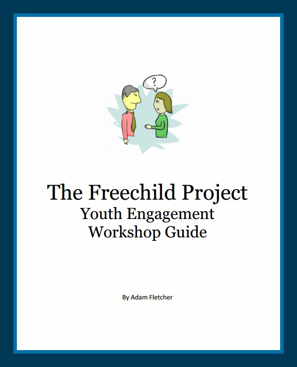 The Freechild Project Youth Engagement Workshop Guide is free online at https://freechildinstitute.files.wordpress.com/2020/12/c4000-fpyewg.pdf