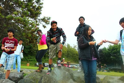 Youth in Seattle with a Freechild Project summer camp